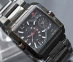 Jam Tangan Swiss Army 0128 Dual Time – Full Black Original