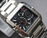 Jam Tangan Swiss Army 0128 Dual Time – Silver Black Original