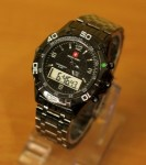 Jam Tangan Swiss Army 804 Doubletime Full Black
