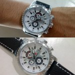 Jam Tangan Swiss Army SA 1151 Black Silver Original