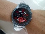 Jam Tangan Swiss Army SA 1155 Black Red Original