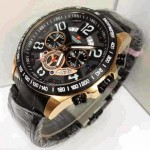 Jam Tangan Swiss Army SA 1155 Black Rose Gold Original