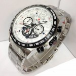Jam Tangan Swiss Army SA 1155 Silver List Black Original