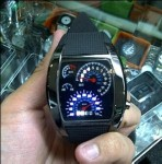 Jam Tangan LED Speedo Meter TVG Original Full Black