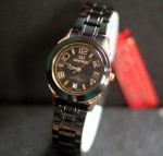 Jam Tangan Mirrage  8185 BRP-L Black List Rose Gold Original