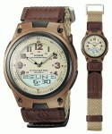 Jam Tangan Casio AW-80V-5BVDF Brown Original
