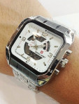 Jam Tangan Swiss Army 806 Doubletime Silver White