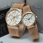 Jam Tangan Alexander Christie Couple AC6331 Gold Original