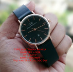 Jam Tangan DW DANIEL WELLINGTON LEATHER LADIES BLACK LIST ROSEGOLD