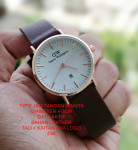 Jam Tangan DW DANIEL WELLINGTON LEATHER LADIES BROWN LIST ROSEGOLD