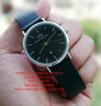 Jam Tangan DW DANIEL WELLINGTON LEATHER LADIES_BLACK LIST SILVER
