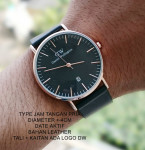 Jam Tangan DW DANIEL WELLINGTON LEATHER MEN BLACK LIST ROSEGOLD