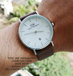 Jam Tangan DW DANIEL WELLINGTON LEATHER MEN BROWN LIST SILVER