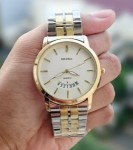 Jam Tangan SEIKO CHAIN+DATE COMBI WHITE FOR MEN