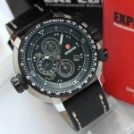 Jam Tangan Expedition 6402 original Black Case Silver