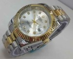 JAM TANGAN ROLEX OYSTER CHAIN UNISEX-COMBI GOLD