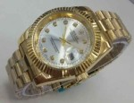 JAM TANGAN ROLEX OYSTER CHAIN UNISEX-GOLD WHITE