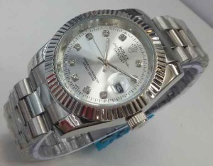 JAM TANGAN ROLEX OYSTER CHAIN UNISEX – SILVER