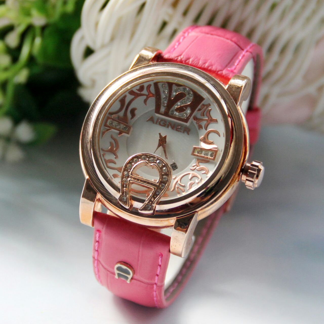Jam Tangan Fossil Angka 3d Brown Sepasang Tangania Wanita Gc Leather Aigner 007 Gd